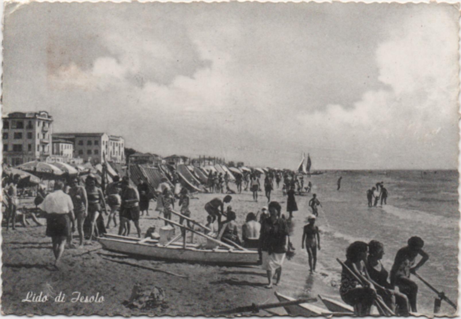 Lido Di Jesolo (Venezia). Viaggiata 1955 - Venezia (Venice)