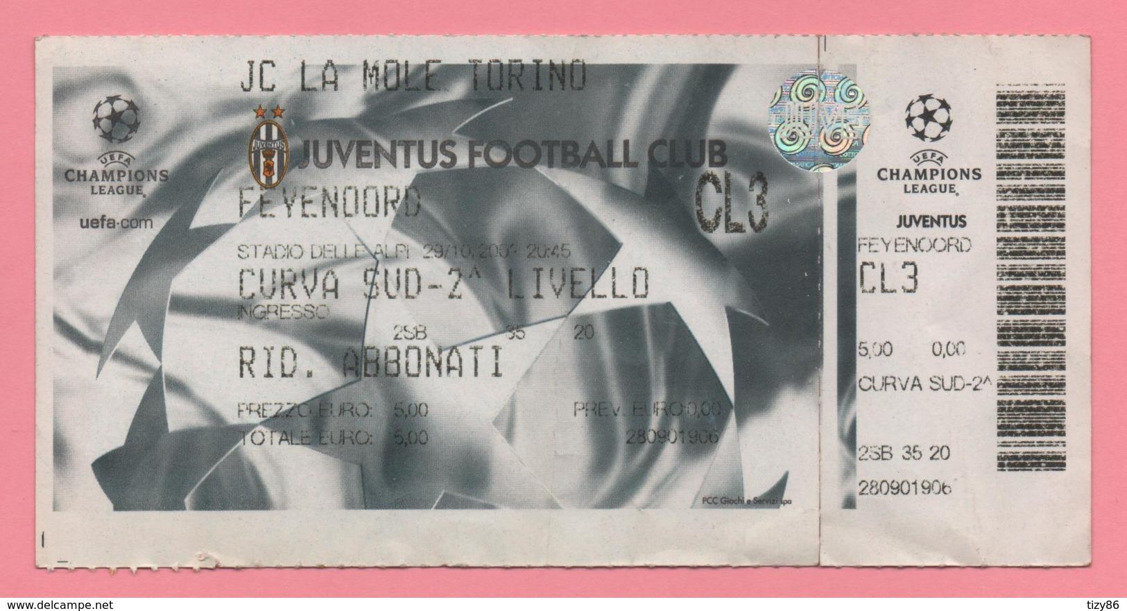 Biglietto D'ingresso Stadio Juventus Feyenoord - Tickets - Vouchers
