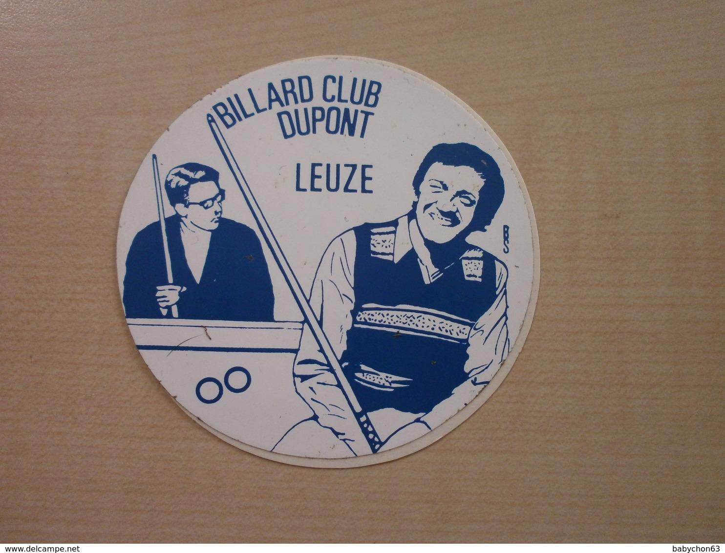 Autocollant Ancien LEUZE BILLARD CLUB DUPONT - Autres