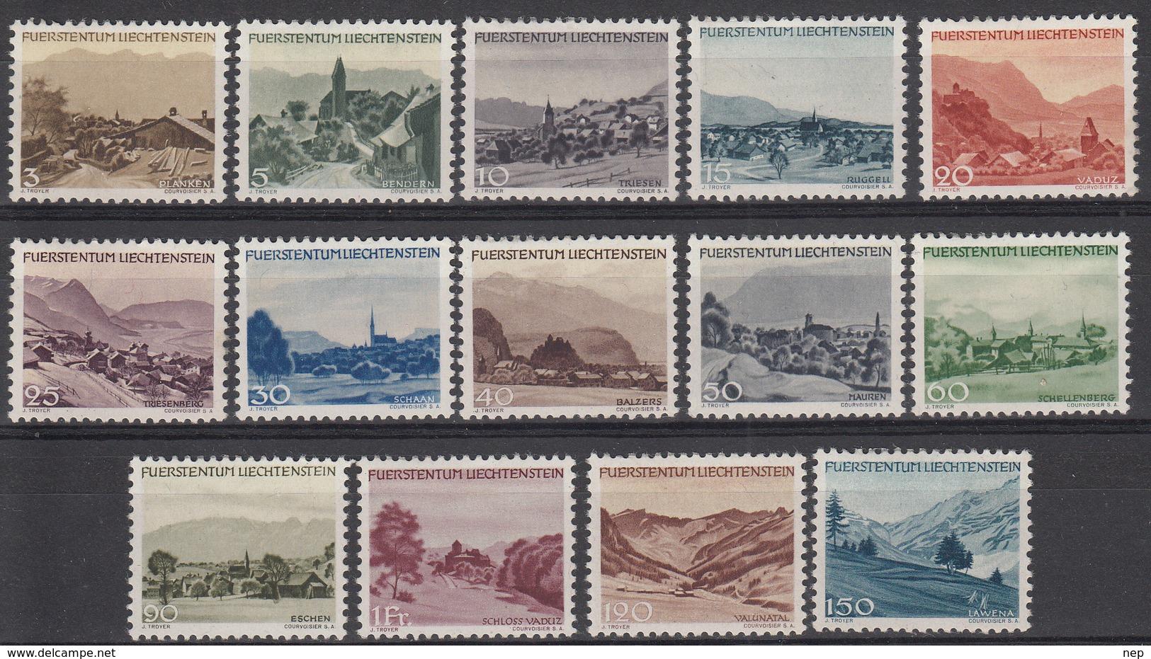 LIECHTENSTEIN - Michel - 1944 - Nr 224/37 - MH* - Liechtenstein