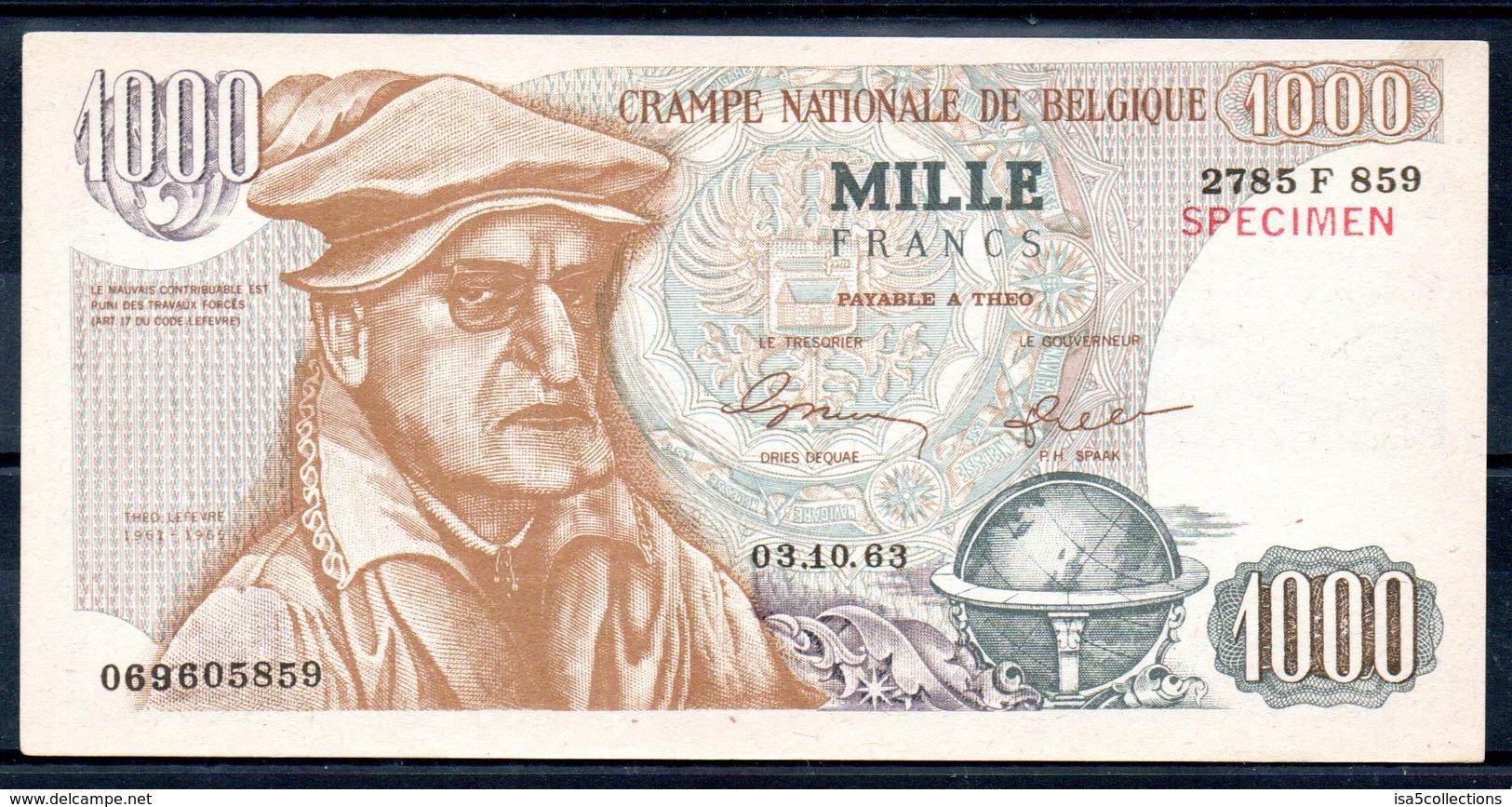 1000 F - Crampe Nationale De Belgique - Billet Tract électoral Du PLP - Altri