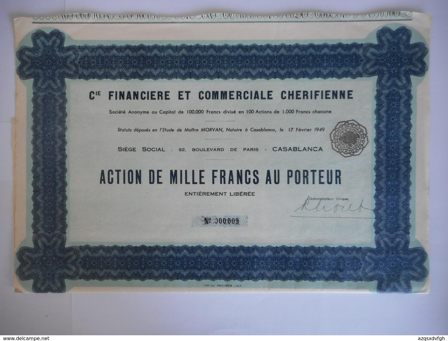Financiere Et Commerciale CHERIFIENNE 92 Bd De PARIS     CASABLANCA       MAROC - Afrika