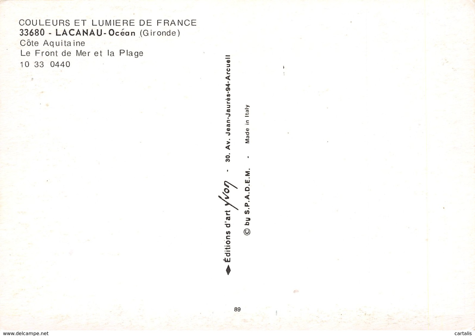33-LACANAU-N°C-3588-A/0075 - France