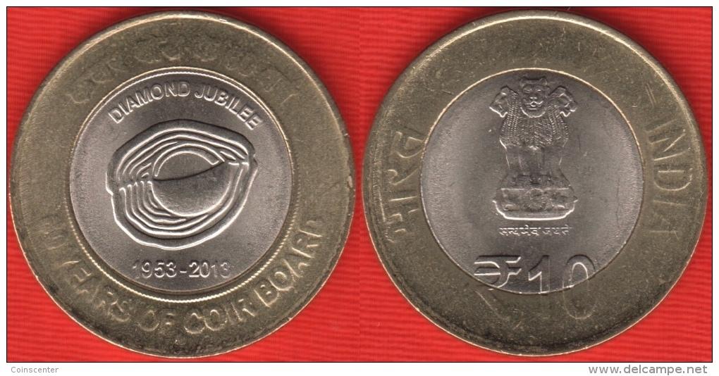 "India 10 Rupees 2013 ""Coir Board"" BiMetallic - India"