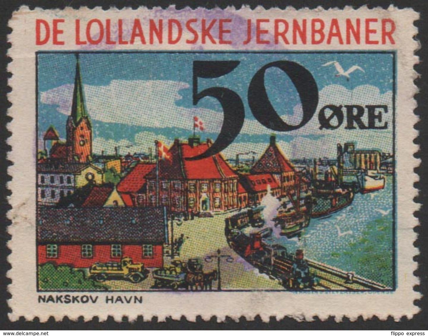 Denmark, Lollandske Jernbaner, Railway Stamp, Used. - Andere