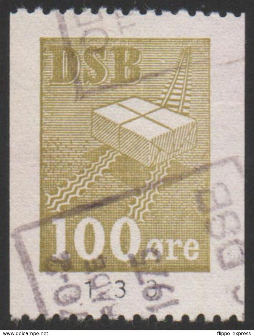 Denmark, Danske Statsbaner, Railway Stamp, Used. - Denmark