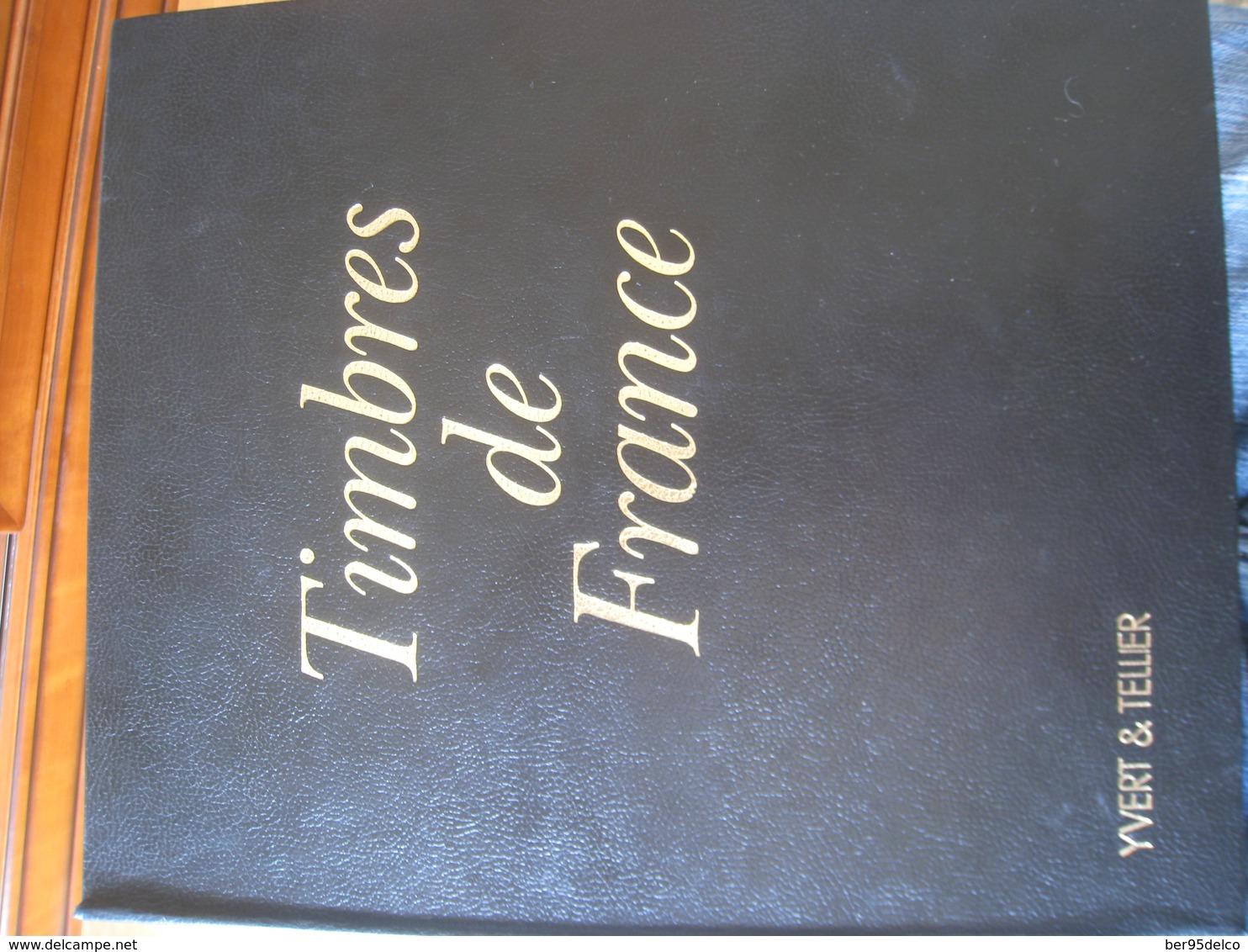 EXCELLENTE OCCASION. Reliure Et Feuilles YVERT Et TELLIER  Du Début 1849-50 à 1985 Voir Description - Albums & Binders