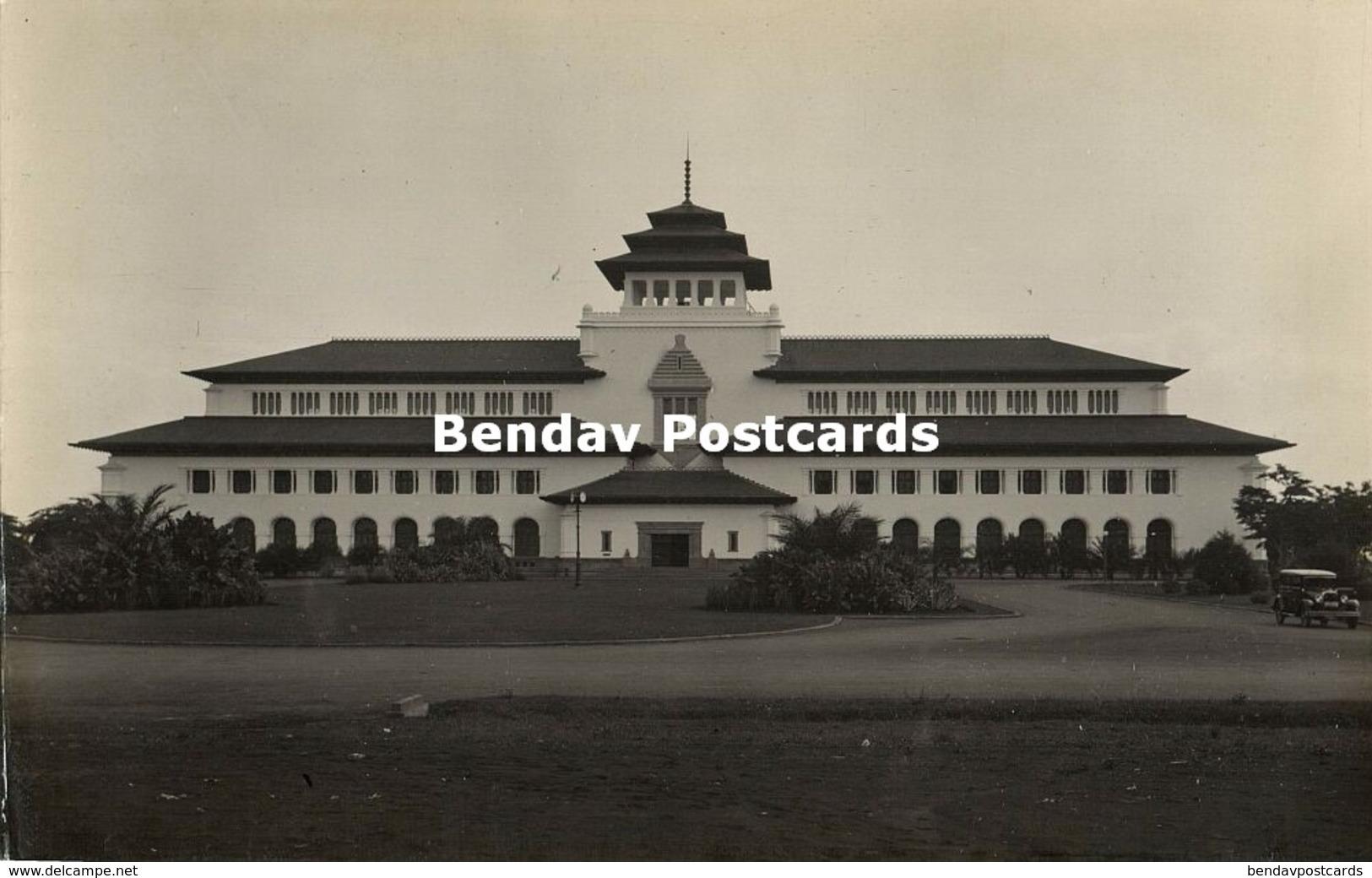 Indonesia, JAVA BANDUNG, Gedung Sate, Built 1920 Architect J. Gerber, RPPC (2) - Indonesië