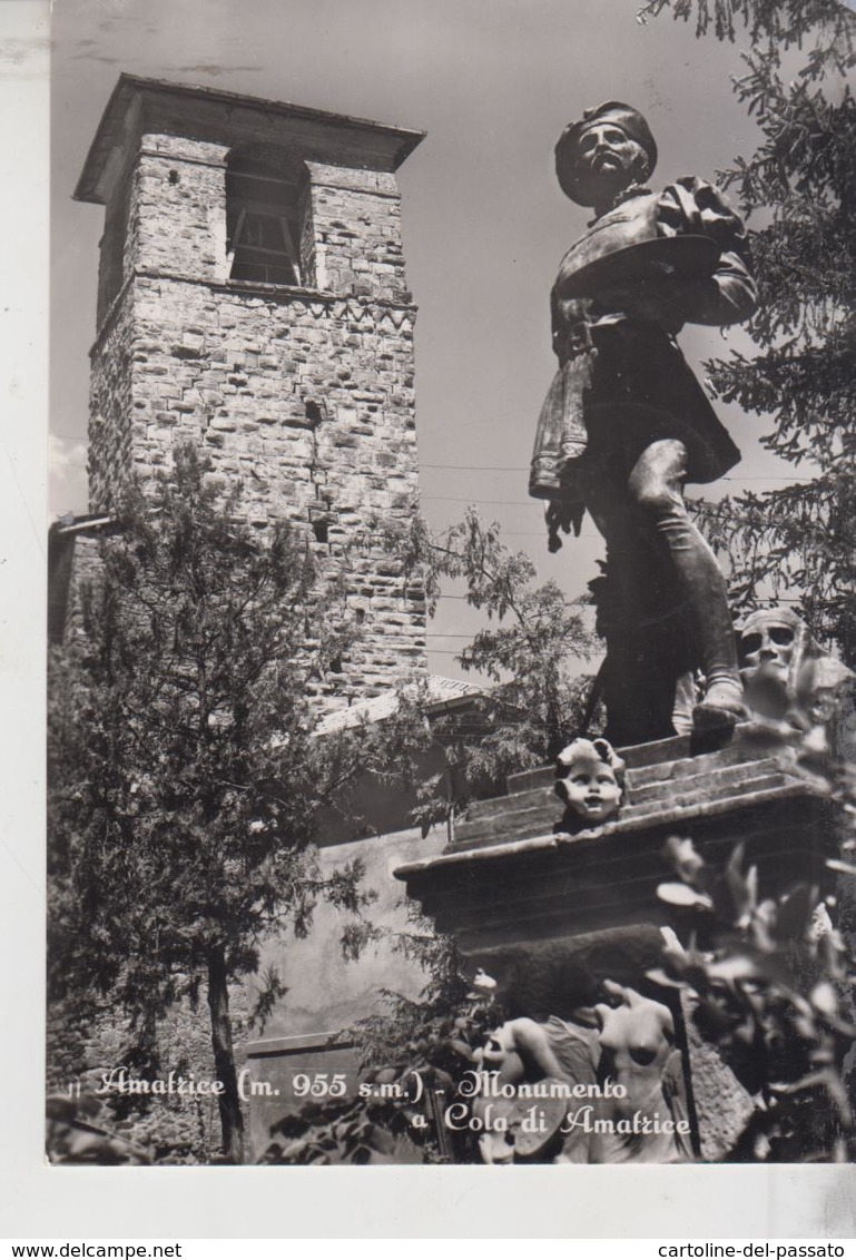 AMATRICE RIETI MONUMENTO A COLA DI AMATRICE  1958 - Rieti