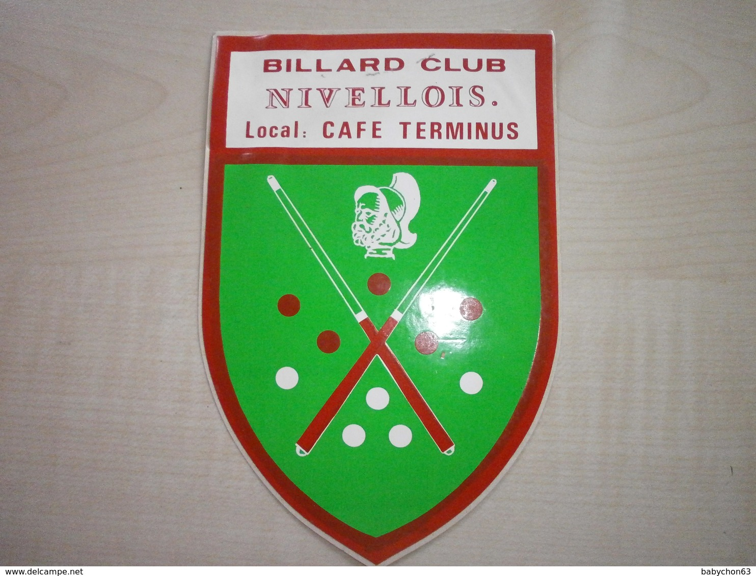 Autocollant Ancien BILLARD CLUB NIVELLOIS - Autres