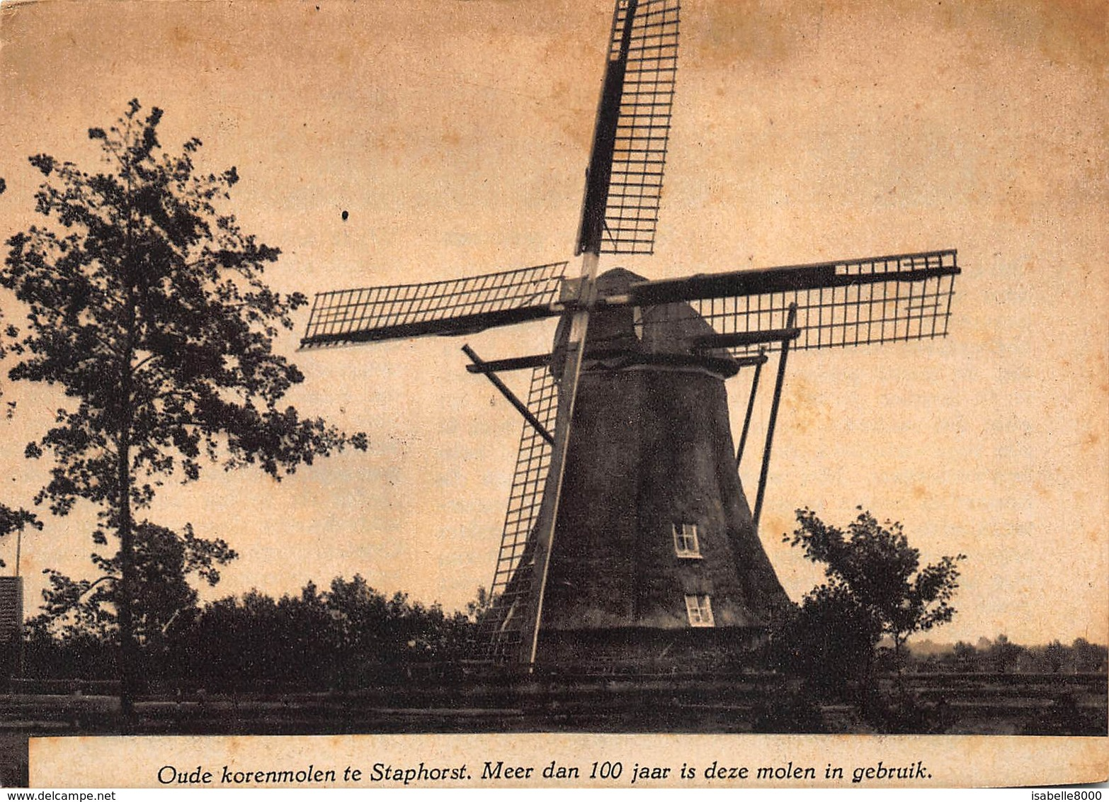 Windmolen Molen  Oude Korenmolen Te Staphorst Nederland Overijssel    K 1 - Moulins à Vent