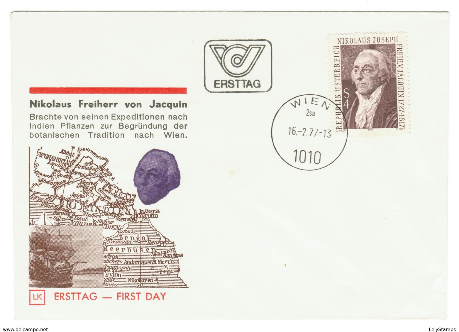 Oostenijk / Austria / Osterreich FDC 1977 Nikolaus Freiherr Von Jacquin - FDC