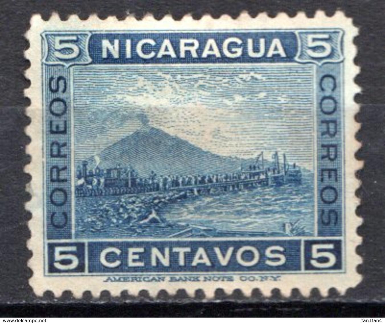 NICARAGUA - 1900 - N° 125 - 5 C. Bleu Foncé - (Volcan Momotombo) - Nicaragua