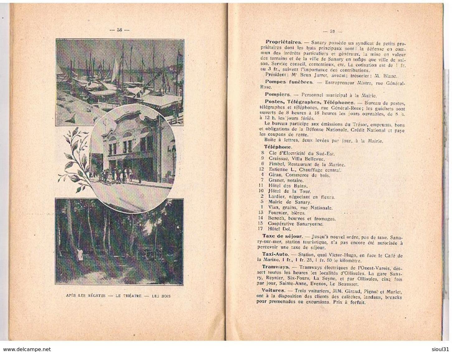 83 Sanary Photos Guide Du Syndicat D Initiative 64 Pages Plan Adresses  Pub Par34 - Sanary-sur-Mer