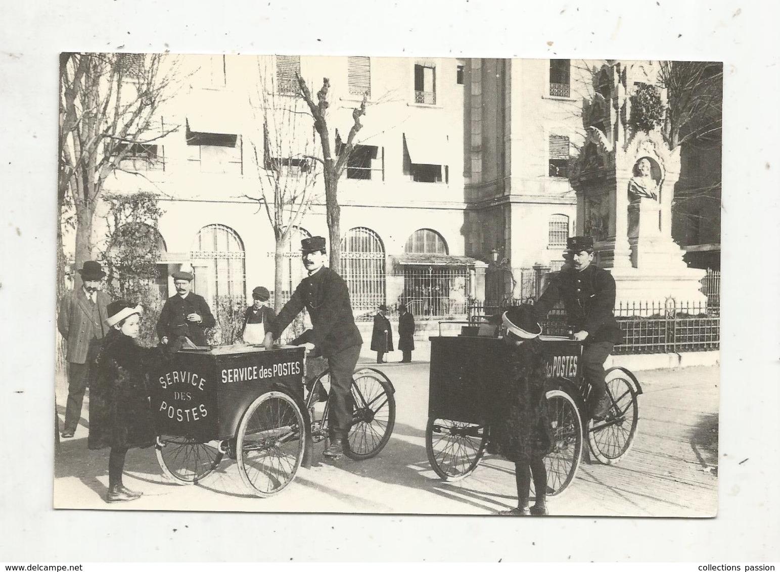 Cp, Poste & Facteurs ,  Le Square Des Postes , 1900 , GRENOBLE ,38 , Musée Dauphinois ,  Vierge, Facteurs, Triporteurs - Postal Services