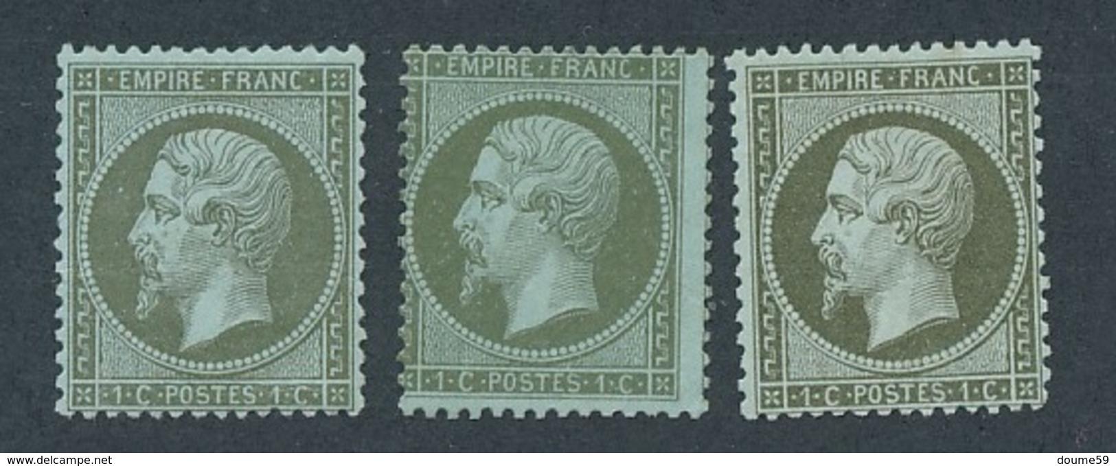 CZ-91: FRANCE :lot Avec N°19 NSG (3 Teintes) - 1862 Napoleone III