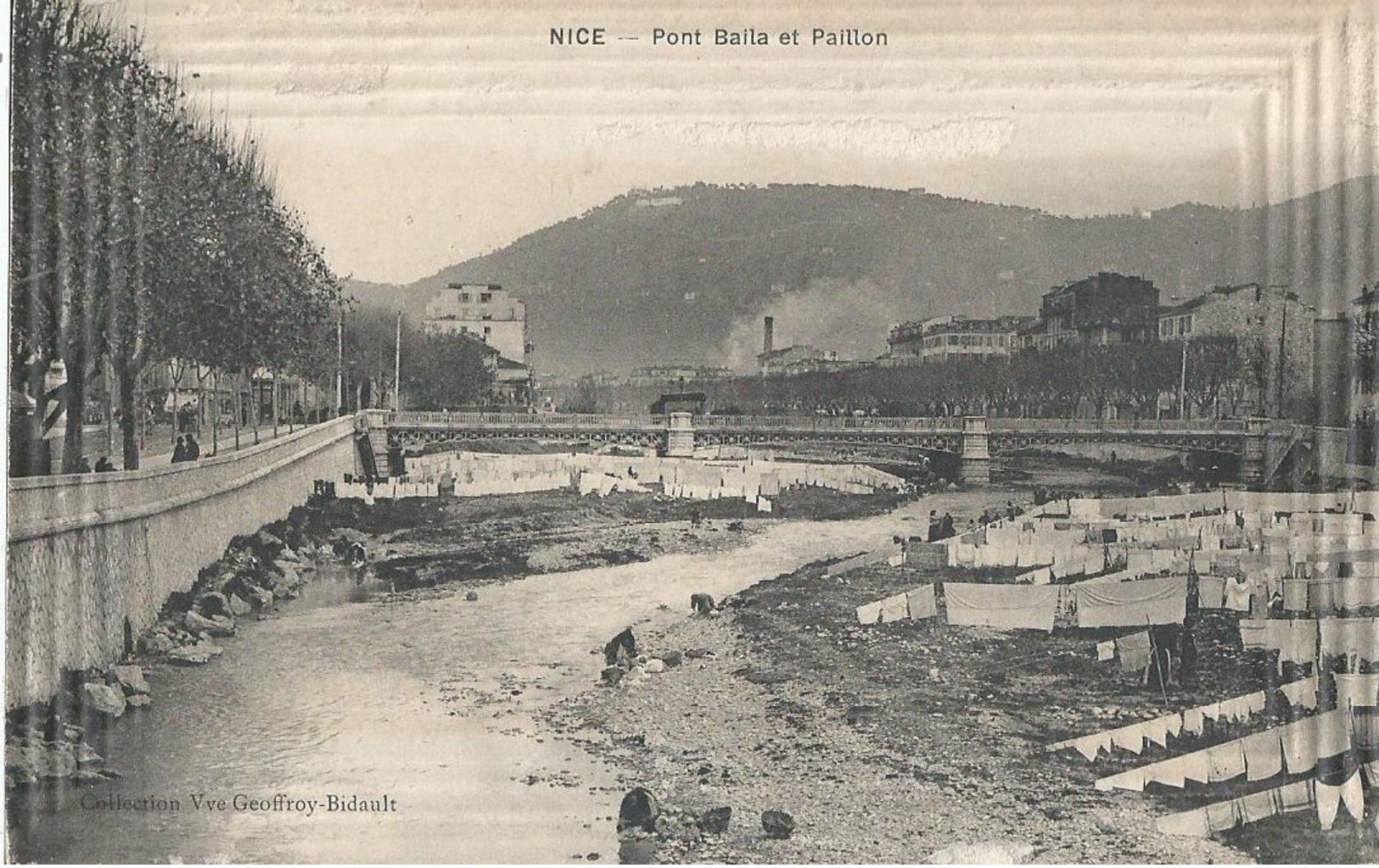 CPA  658 - NICE Pont Baila Et Paillon -  Animations- - Bauwerke, Gebäude