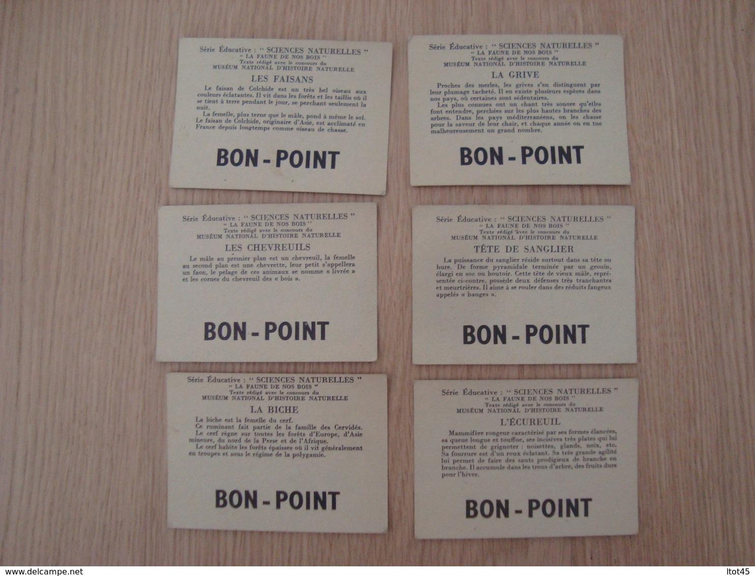 LOT DE 6 IMAGES BON-POINT SERIE EDUCATIVE SCIENCES NATURELLES - Other
