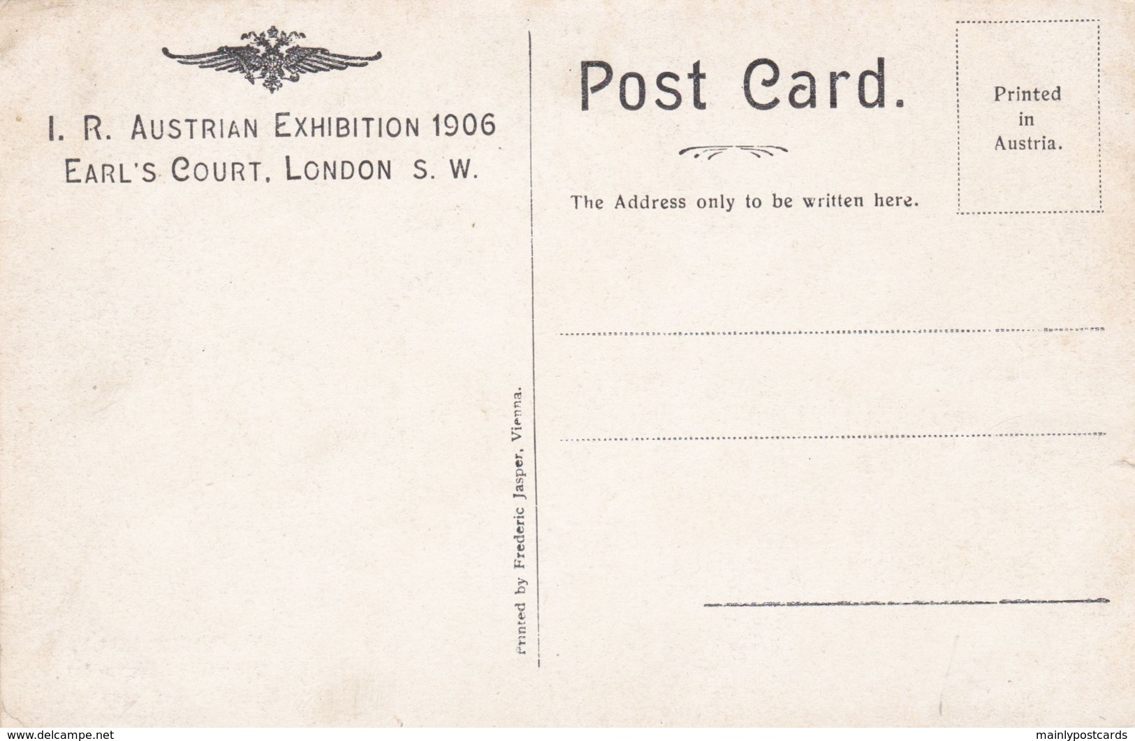 AO86 Empress Hall, Tyrolian Village, IR Austrian Exhibition 1906 London - Exhibitions