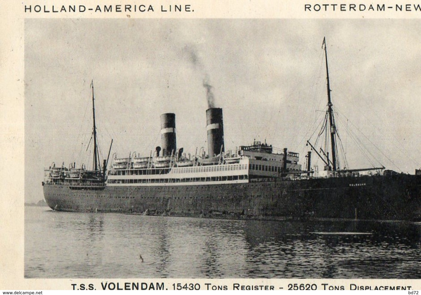 VOLENDAM - HOLLAND AMERICA LINE ( Rotterdam - New York ) - Passagiersschepen