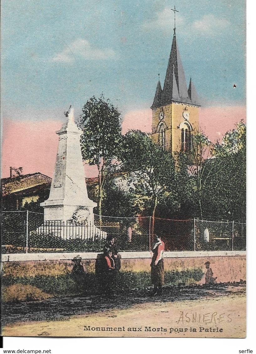 17 - Asnières - Monument Aux Morts Pour La Patrie - France