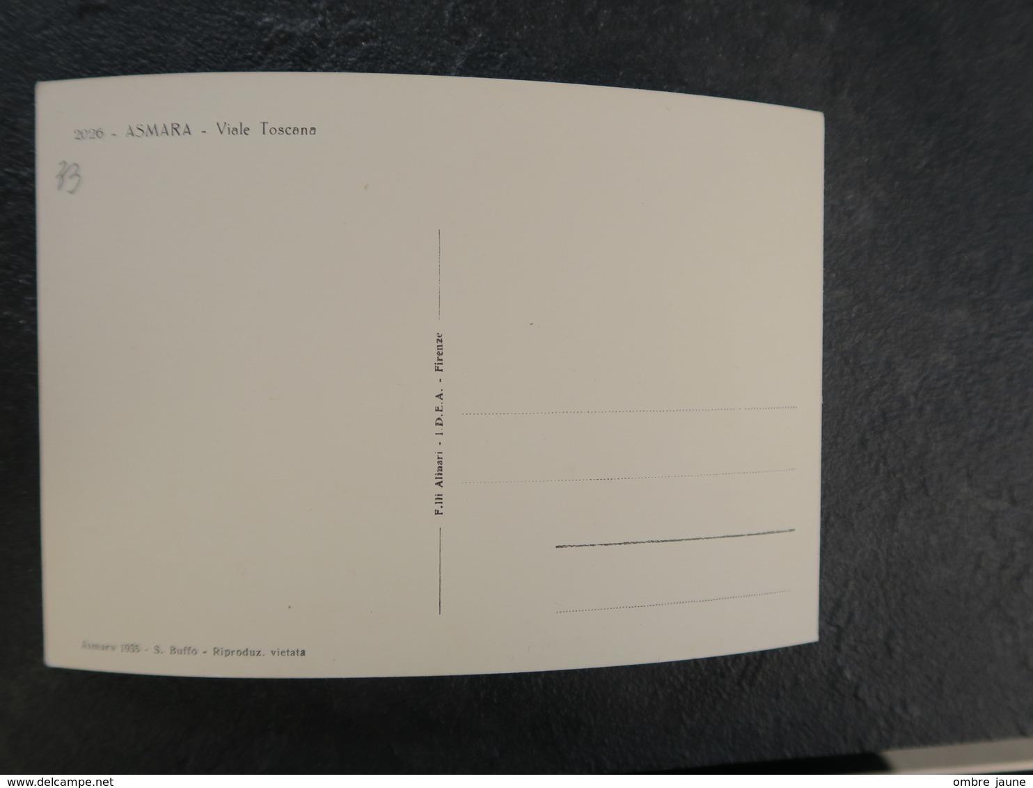 IT  - ERYTHREE - ERITREA - ASMARA - VIALE TOSCANA - Eritrea