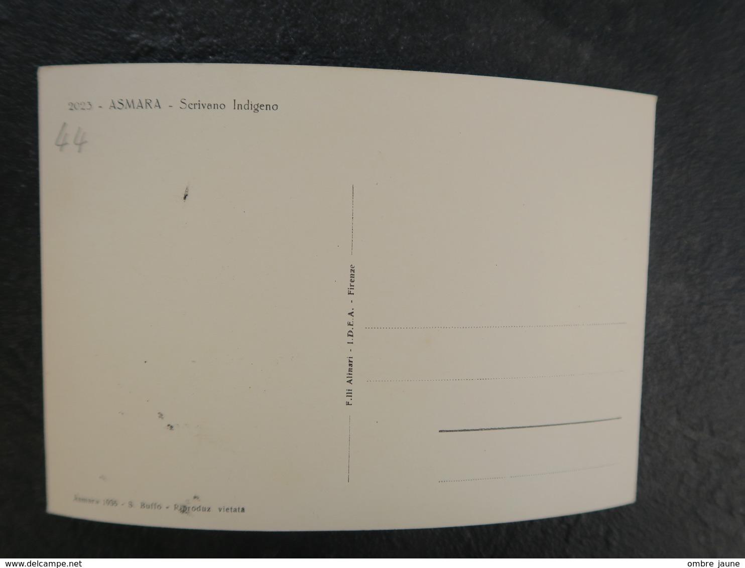 IT  - ERYTHREE - ERITREA - ASMARA - SCRIVANO INDIGENO - Eritrea