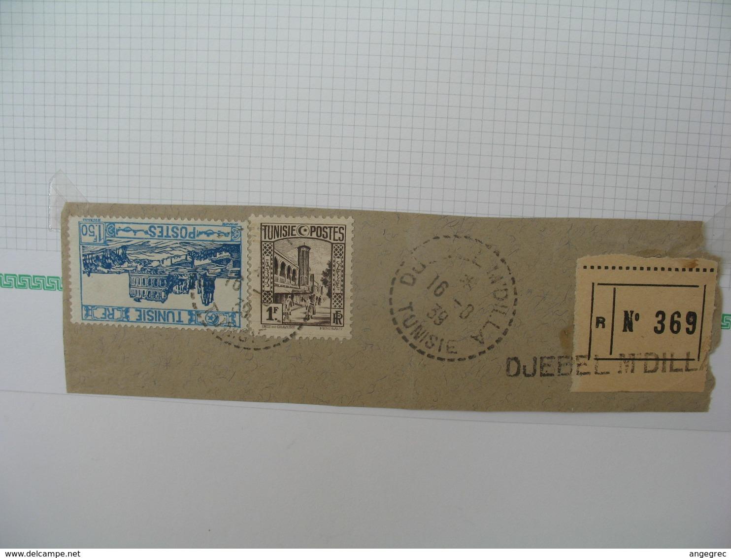Tunisie Oblitéré, Lot De Timbres, Oblitération choisies De  Djebel M'Dilla Voir Scan - Tunesien (1888-1955)