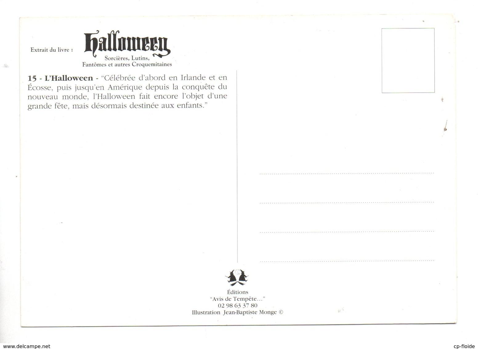 """ILLUSTRATEUR . JEAN-BAPTISTE MONGE . """" HALLOWEEN """" . EXTRAIT DU LIVRE - Réf. N°22815 - - Illustrateurs & Photographes"""