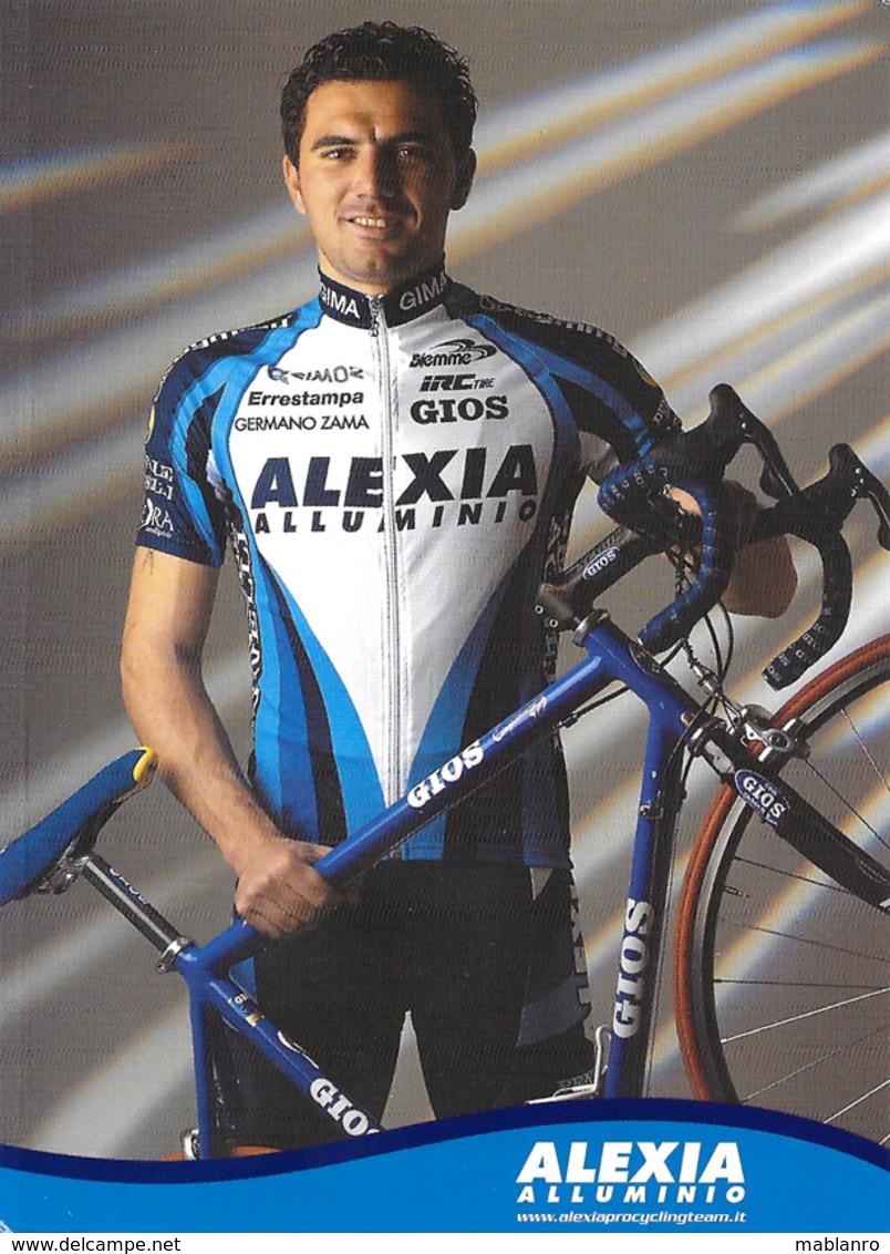 CARTE CYCLISME ANTONIO SALOMONE TEAM ALEXIA 2001 - Radsport