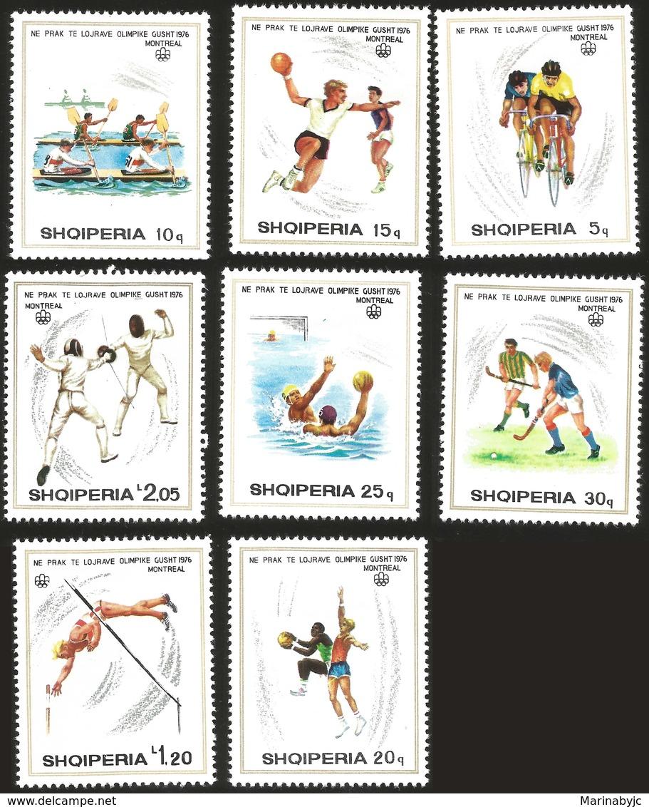 V) 1976 ALBANIA, OLYMPIC GAME, MONTREAL CANADA, MNH - Albania