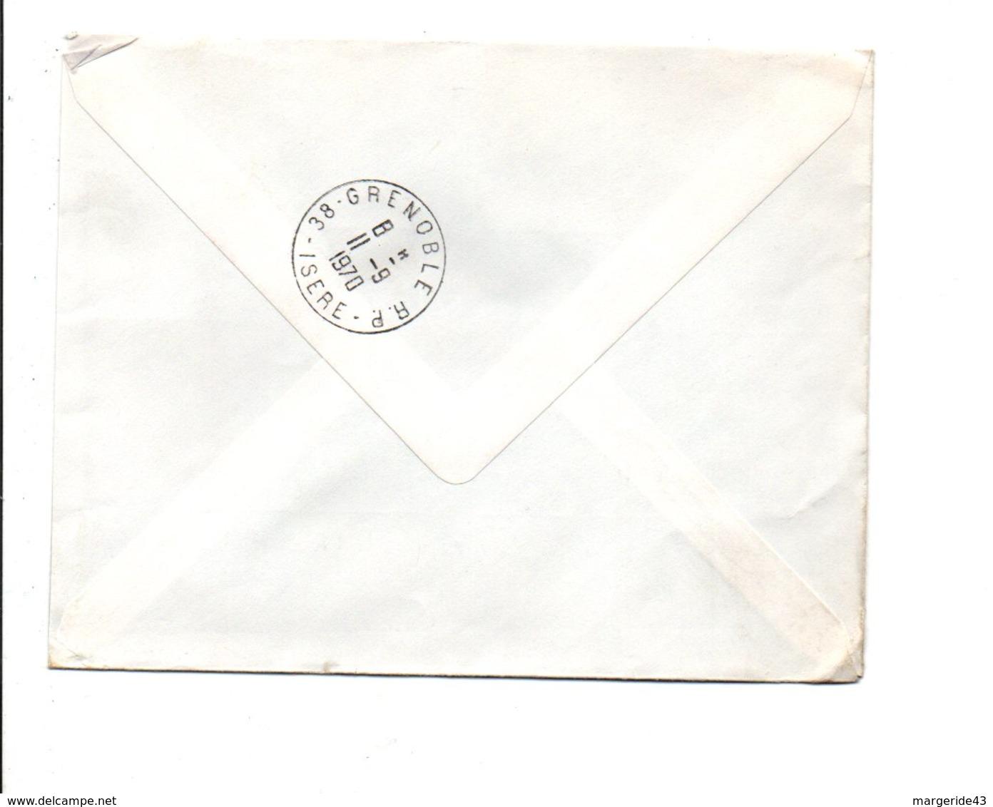 AFFRANCHISSEMENT COMPOSE SUR LETTRE EXPRES DE CORPS ISERE 1970 - Marcophilie (Lettres)