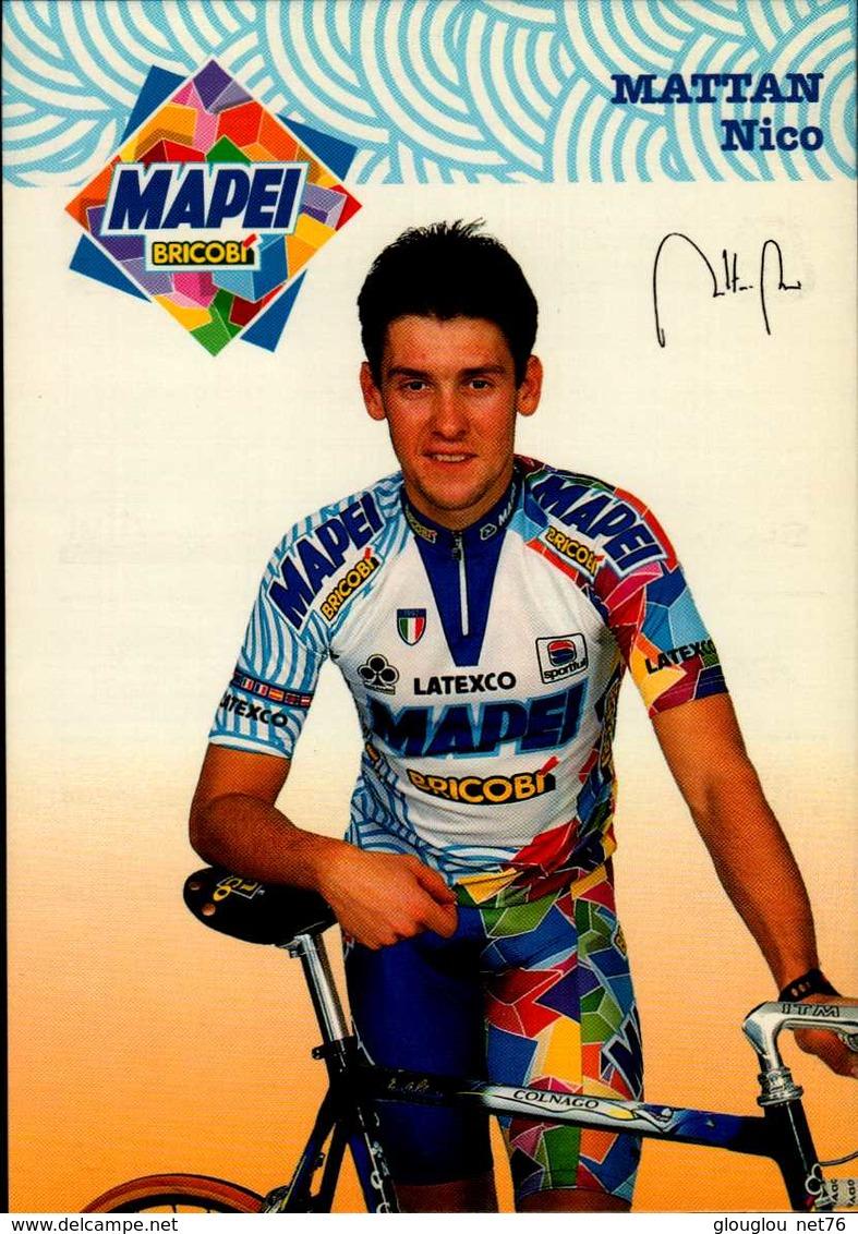 MATTAN NICO...VOIR DOS ...CPM ANIMEE - Cyclisme