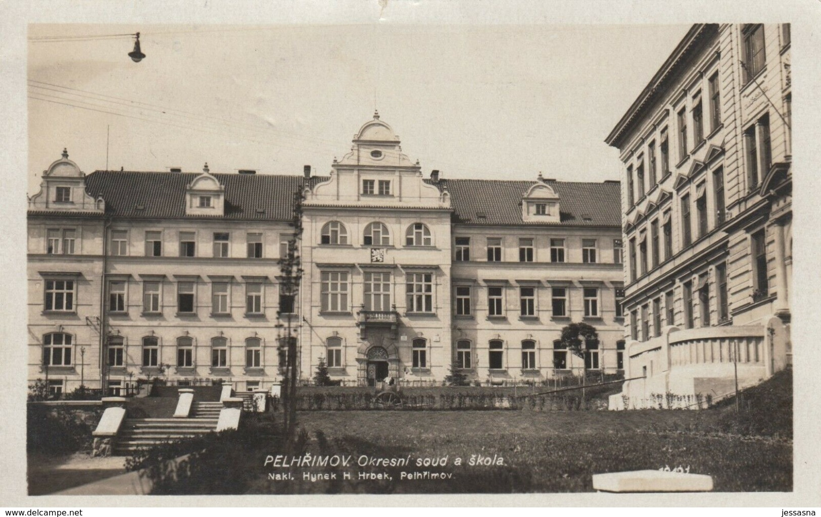 AK - Tschechien - Pelhrimov (Pilgram) - Landgericht U. Schule - Tschechische Republik