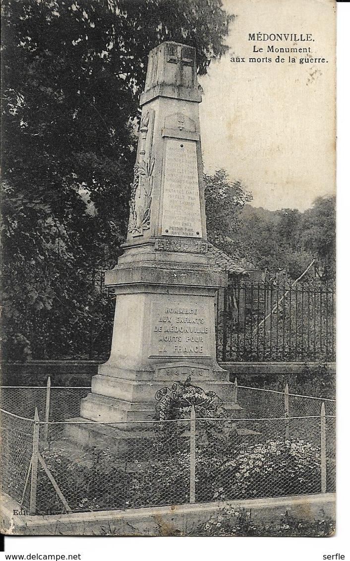 88 - Médonville - Le Monument Aux Morts De La Guerre - France