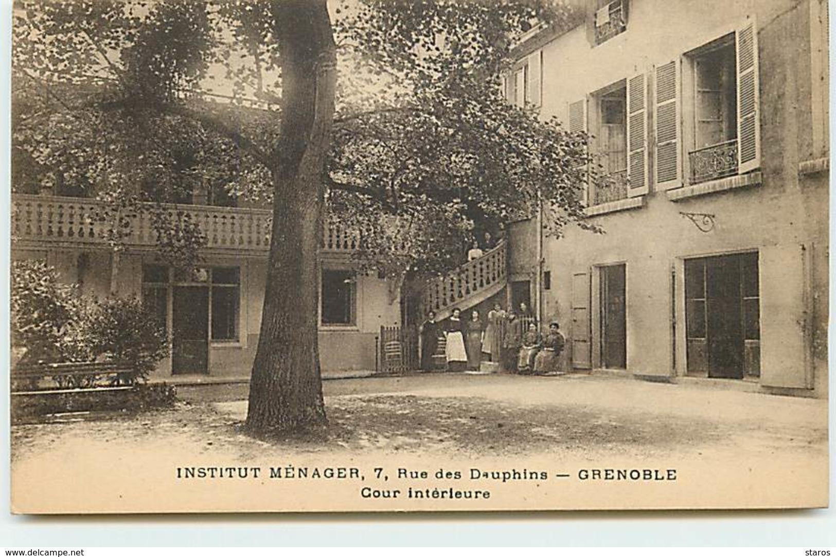 GRENOBLE - Rue Des Dauphins - Institut Ménager - Cour Intérieure - Grenoble