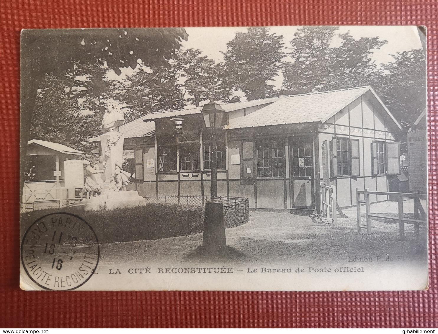 CPA - 75 - PARIS - LA CITE RECONSTITUEE - LE BUREAU DE POSTE OFFICIEL (h) - France