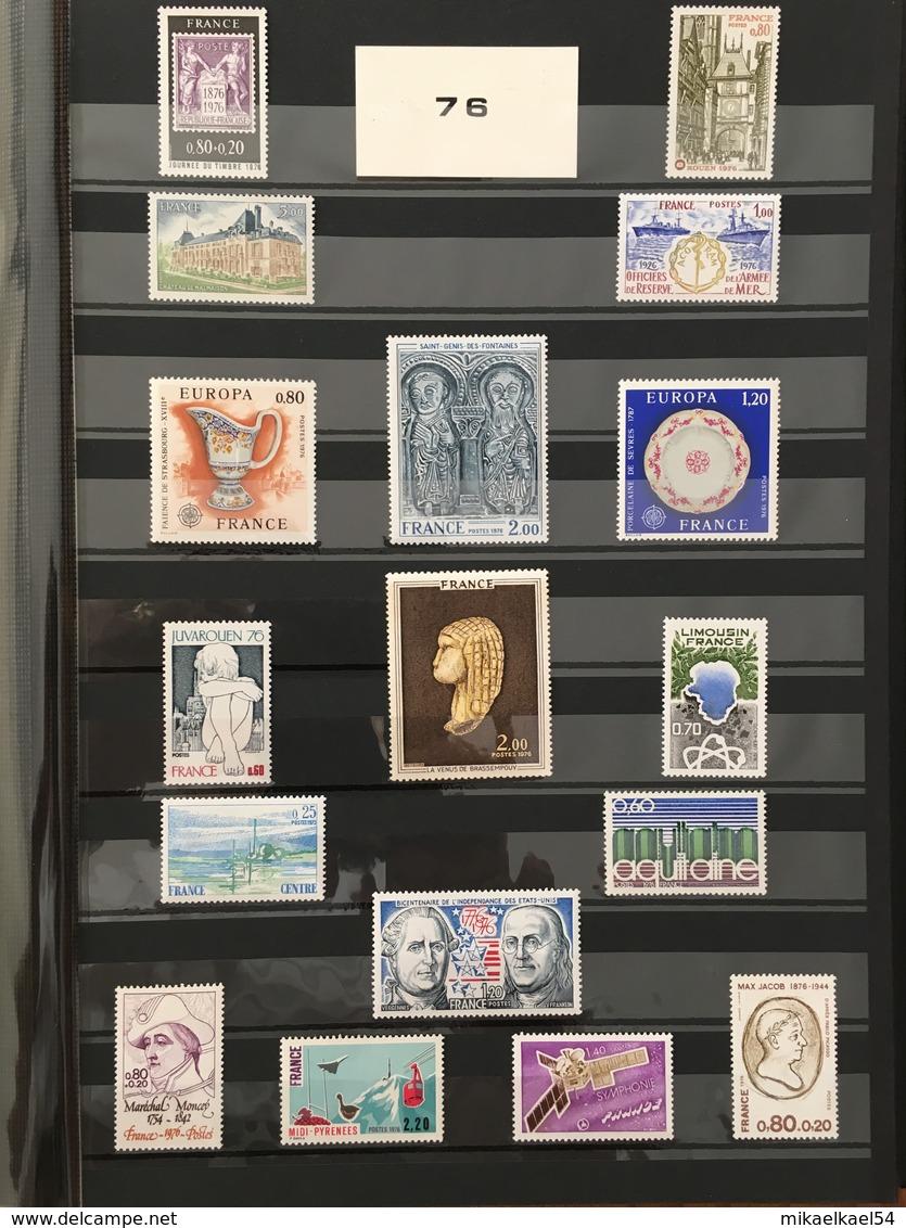 FRANCE Année Complète 1976 - YT N°  1863 à 1913 (+1894a Et 1895a) Et Poste Aérienne 49 - 55 Timbres Neufs Sans Charnière - 1970-1979