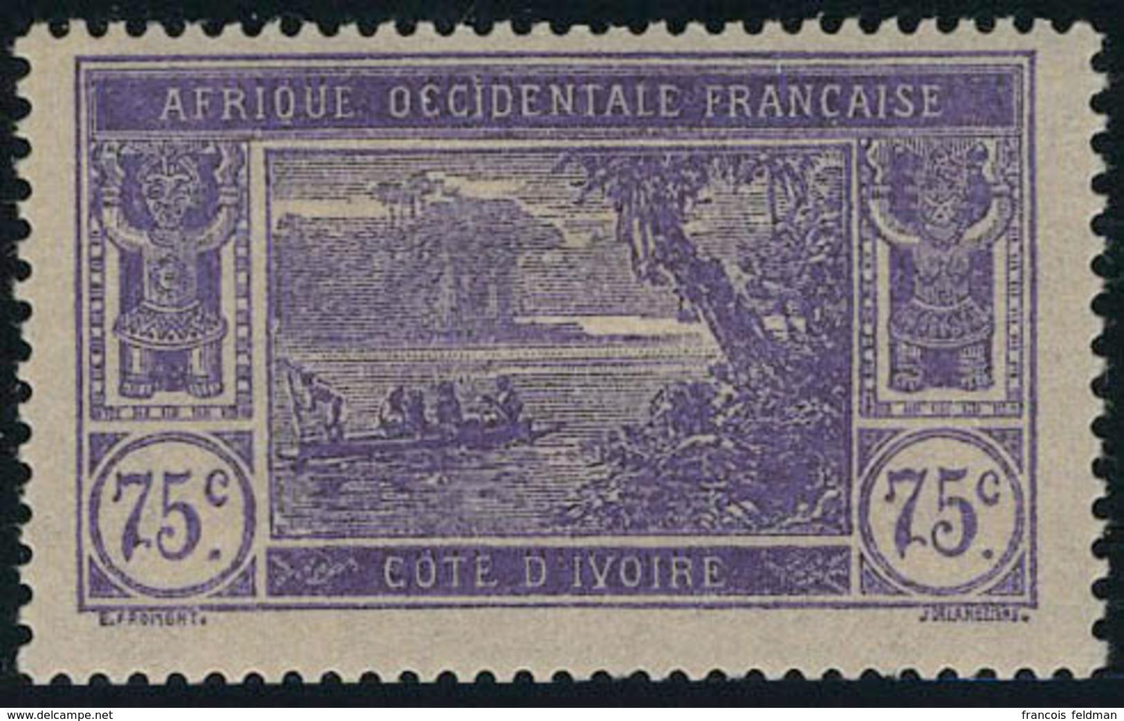 Neuf Avec Charnière N° 59a, 75c Violet Sur Rose Sans Surcharge T.B. - Unclassified