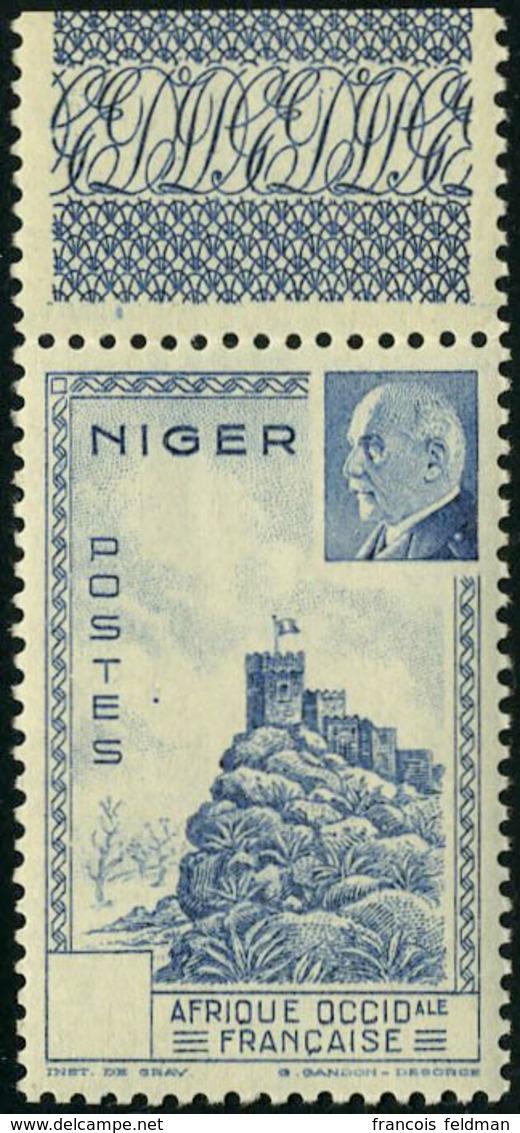 Neuf Sans Charnière N° 94a, Pétain Bleu Sans Indication De La Valeur, TB - Francobolli