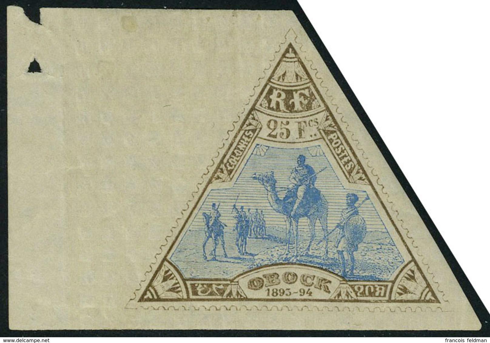 Neuf Avec Charnière N° 63, 25 Bistre Et Bleu Grand Bdf T.B. Signé Gilbert - Stamps