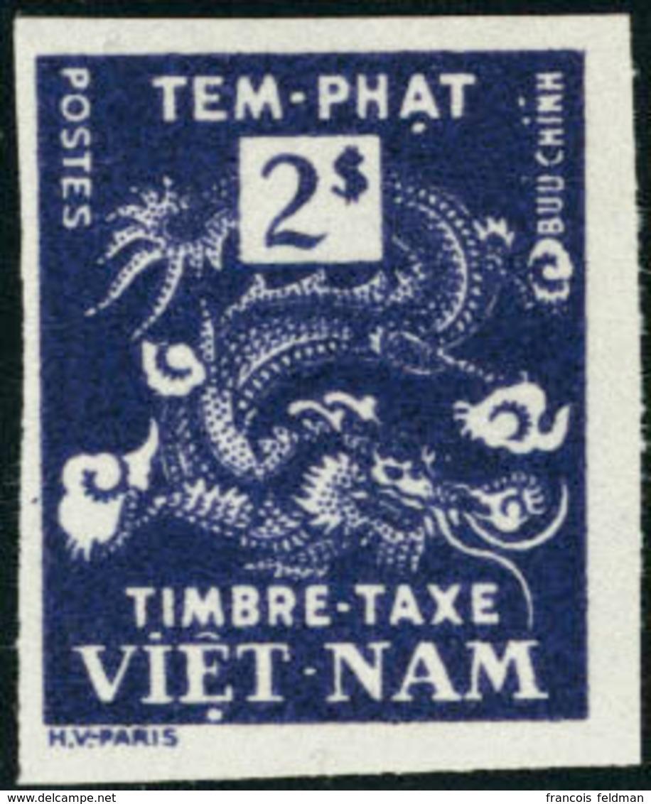 Neuf Sans Charnière Type Dragon. 2Pi Violet. Dans La Couleur Du N°8. Unicolore. Non Dentelé. T.B. - Postzegels