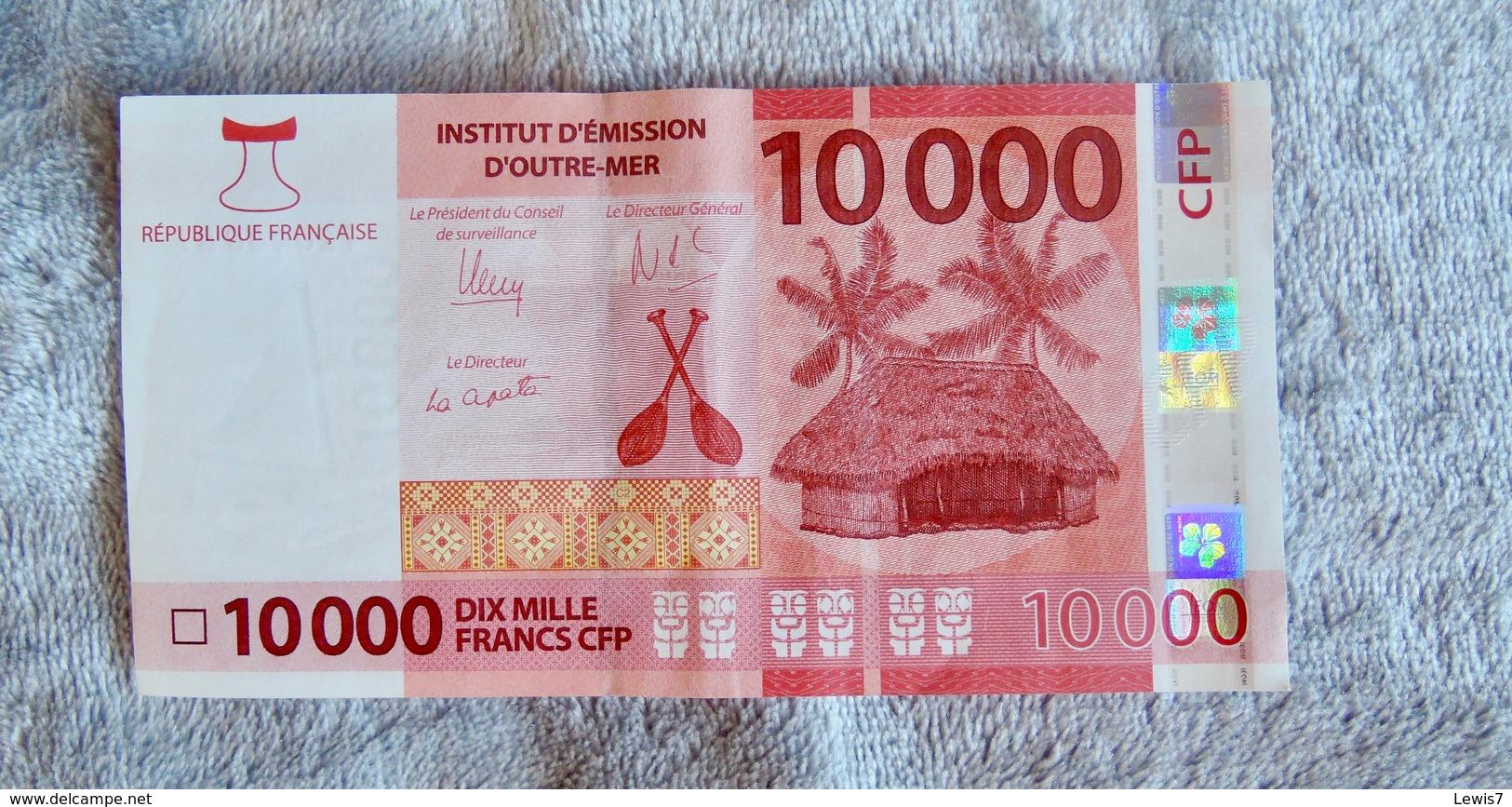 Polynesian Banknote 10 000 Pacific Francs XPF - Banknotes