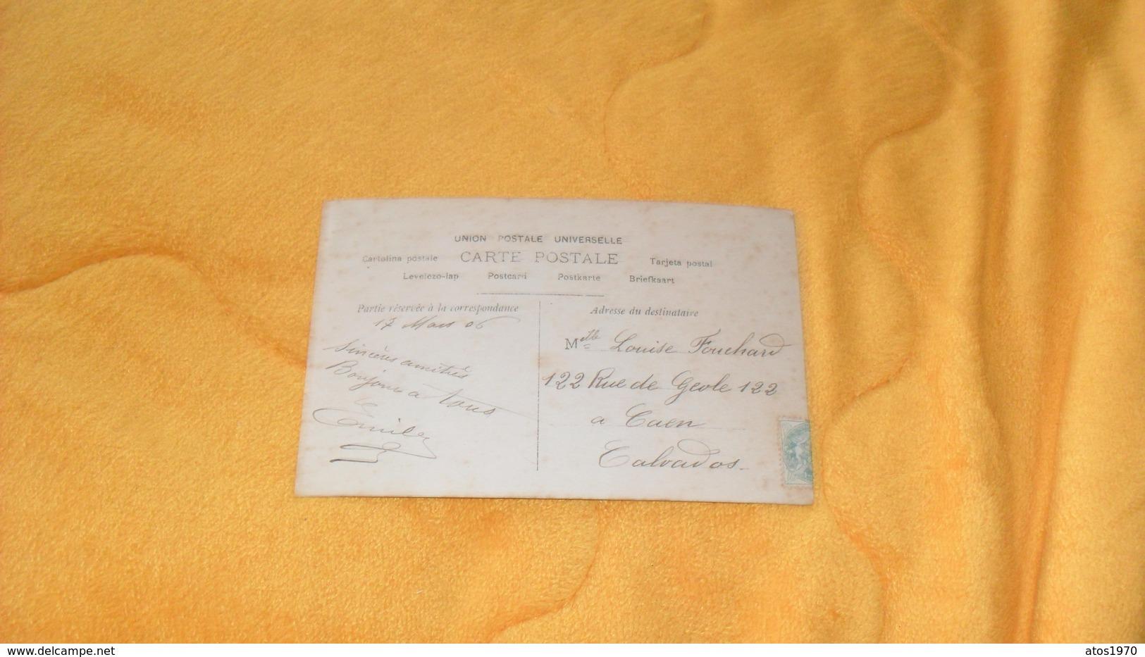 CARTE POSTALE ANCIENNE CIRCULEE DE 1906.../ PORTRAIT DE FEMME PAR A. MANUEL..1415..CACHET + TIMBRE - Femmes