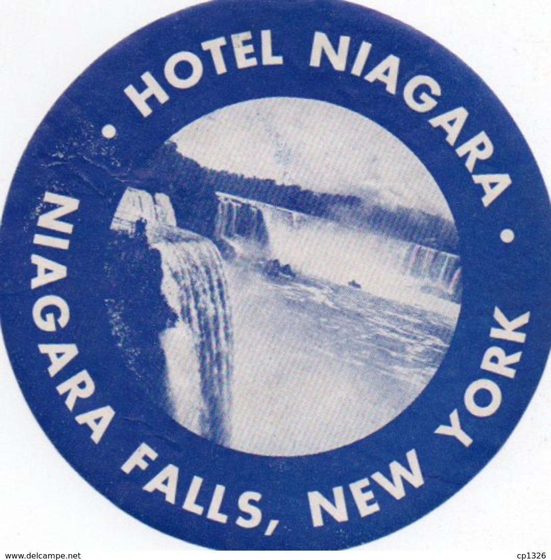 96Hs  Etiquette Autocollante Hotel Niagara Falls New York - Etiquetas De Hotel