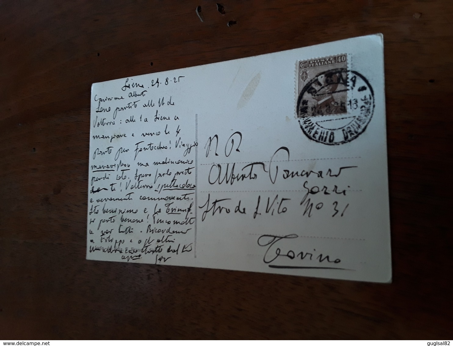 Cartolina Postale 1925, Siena, Torre Del Mangia Dal Vicolo Di Macta Salaia - Siena