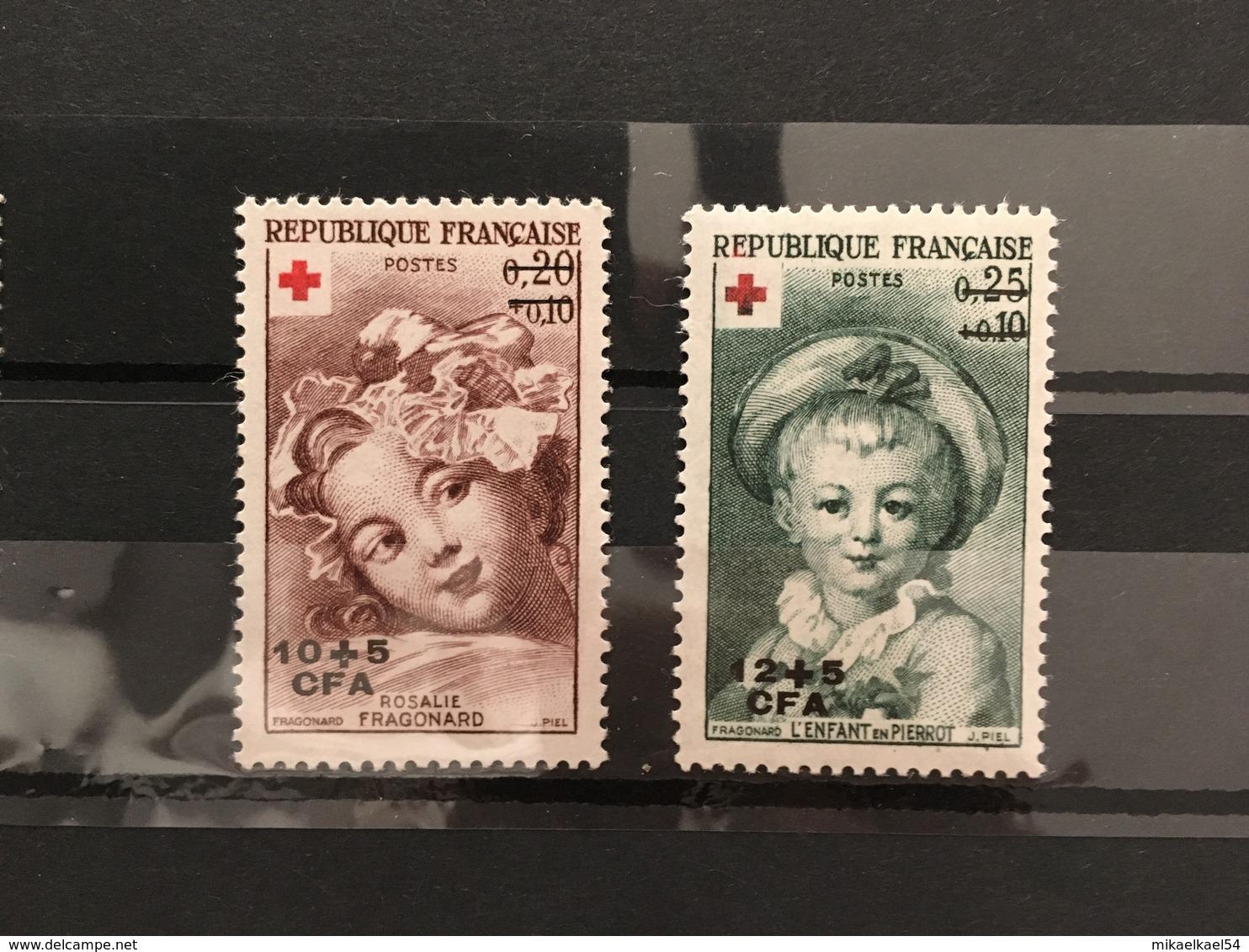 REUNION Année Complète 1962 - YT N° 353 Et 354 - 2 Timbres Neufs Sans Charnière ** MNH - Réunion (1852-1975)