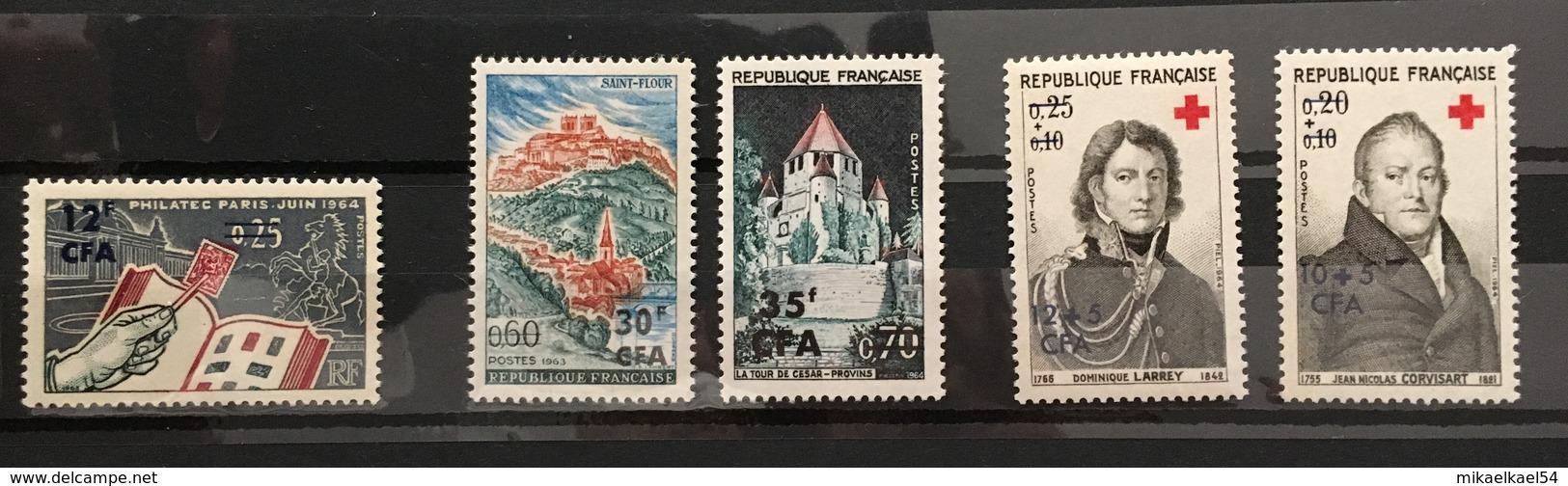 REUNION Année Complète 1964 - YT N° 359 à 363 - 5 Timbres Neufs Sans Charnière ** MNH - Réunion (1852-1975)