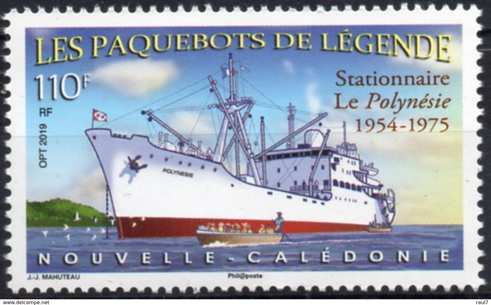 Nouvelle-Calédonie 2019 - Bateaux Paquebots De Légende, Le Polynésie - 1 Val Neuf // Mnh - Nueva Caledonia