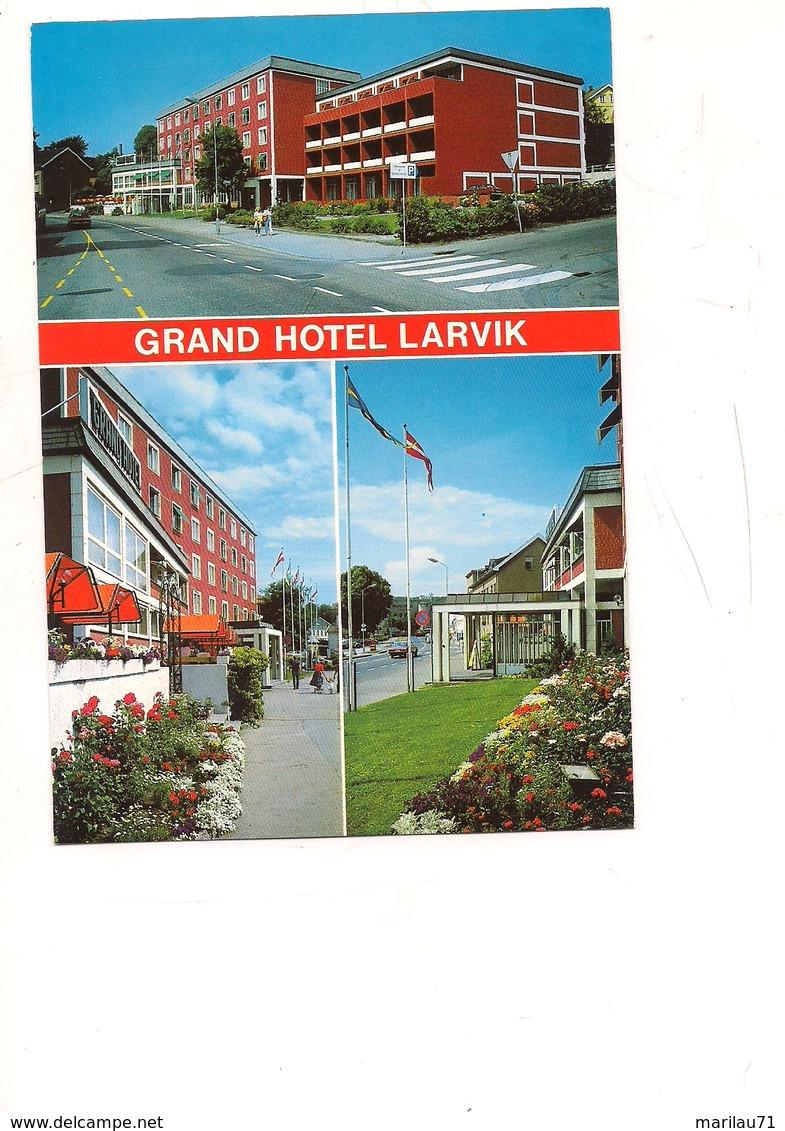 M8983 NORVEGIA NORWAY GRAND HOTEL LARVIK VIAGGIATA IN BUSTA - Norvegia